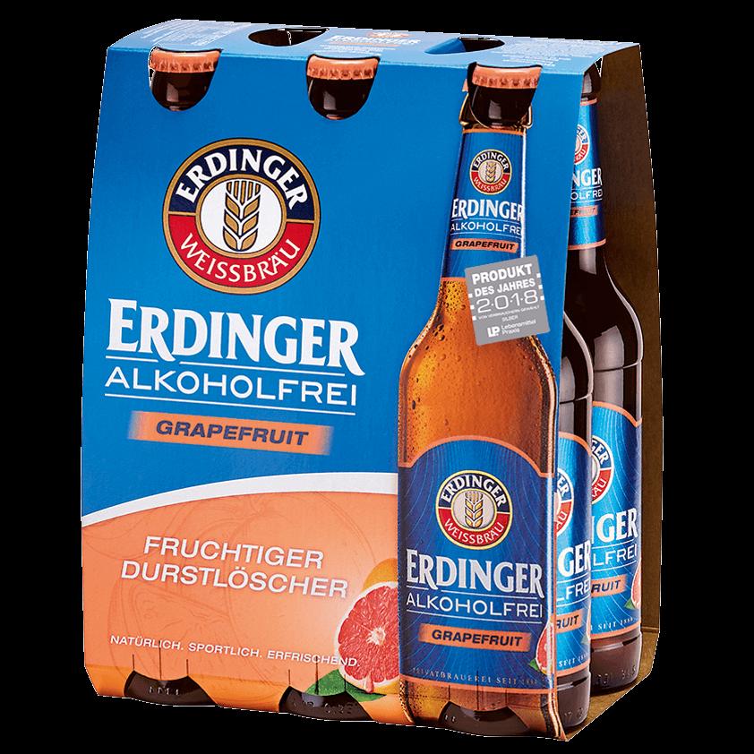 ERDINGER Weißbier Alkoholfrei - Zitrone & Grapefruit