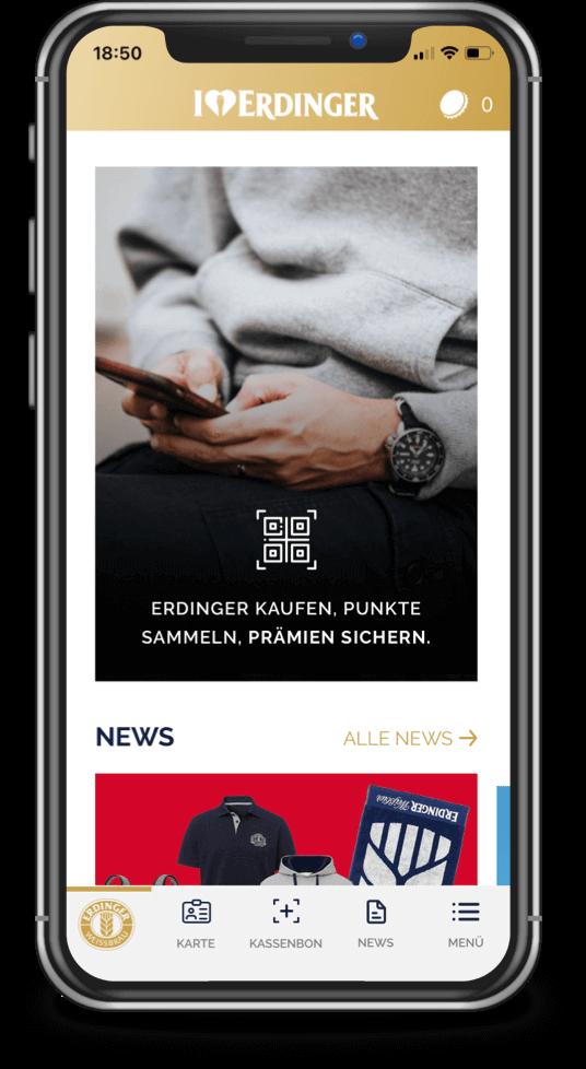 Appgefahren – die ERDINGER Fan-App