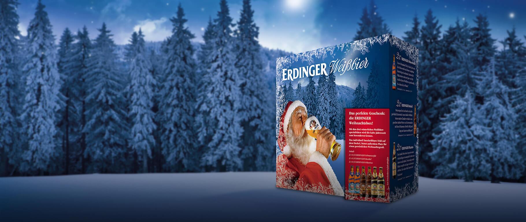 Jetzt im Handel: Die ERDINGER Weihnachtsbox