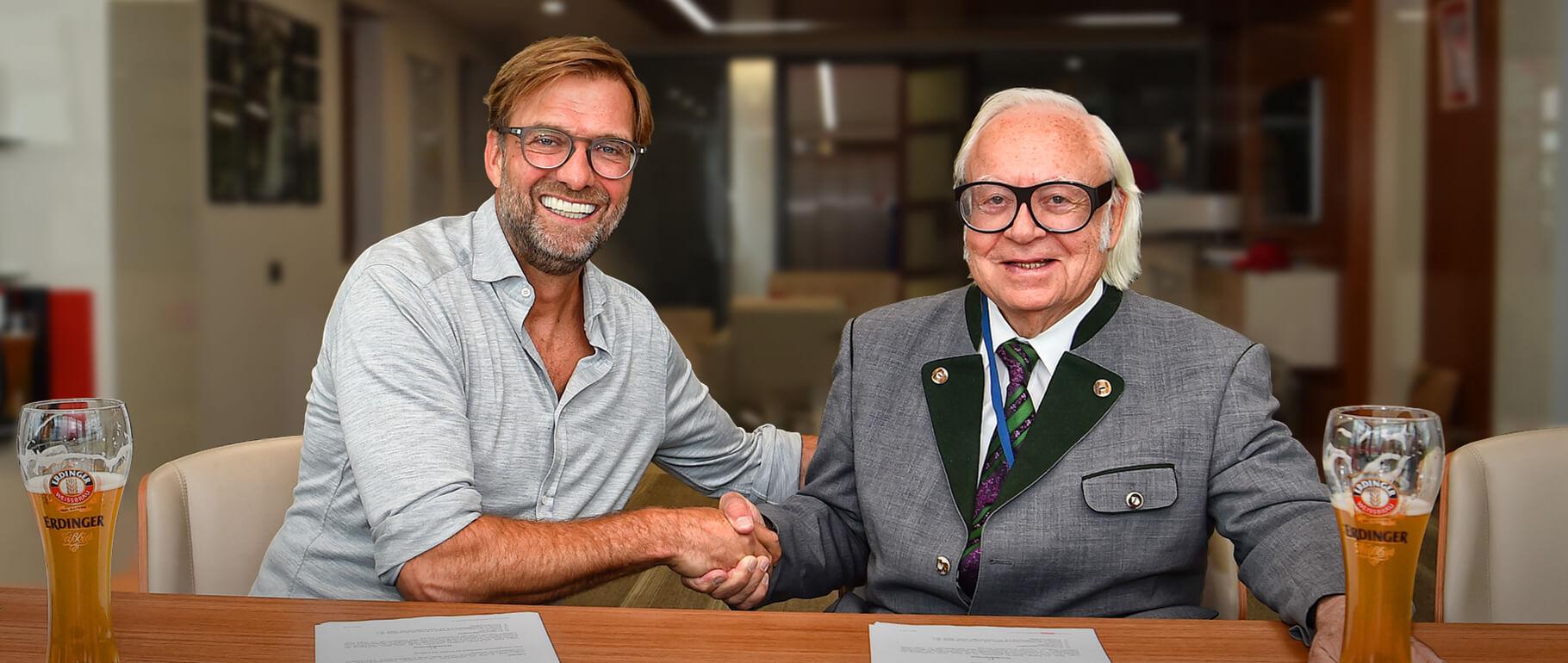 ERDINGER Weißbräu und Jürgen Klopp – das perfect match