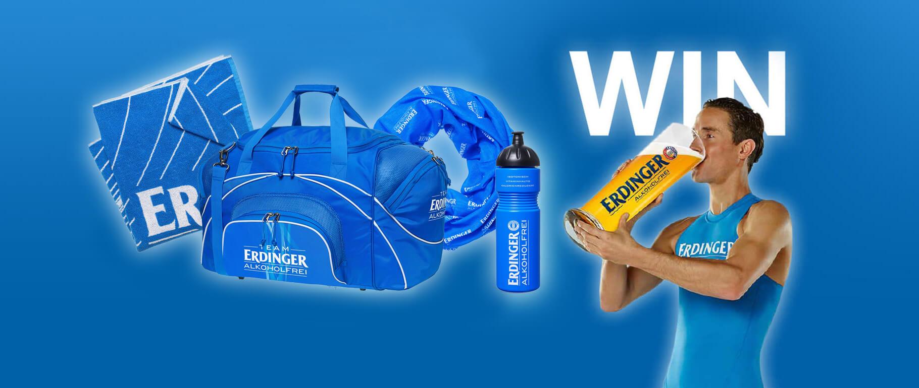 Gewinne jetzt ein original ERDINGER Lauf-Kit!