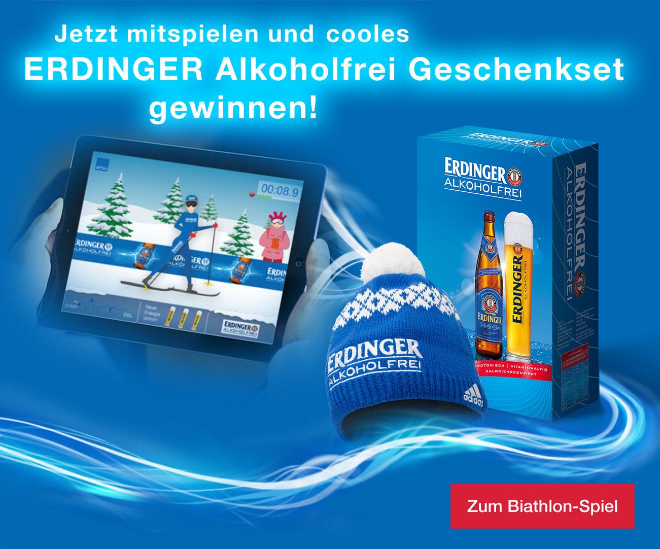 Gewinne jetzt ein ERDINGER Alkoholfrei Geschenkset!
