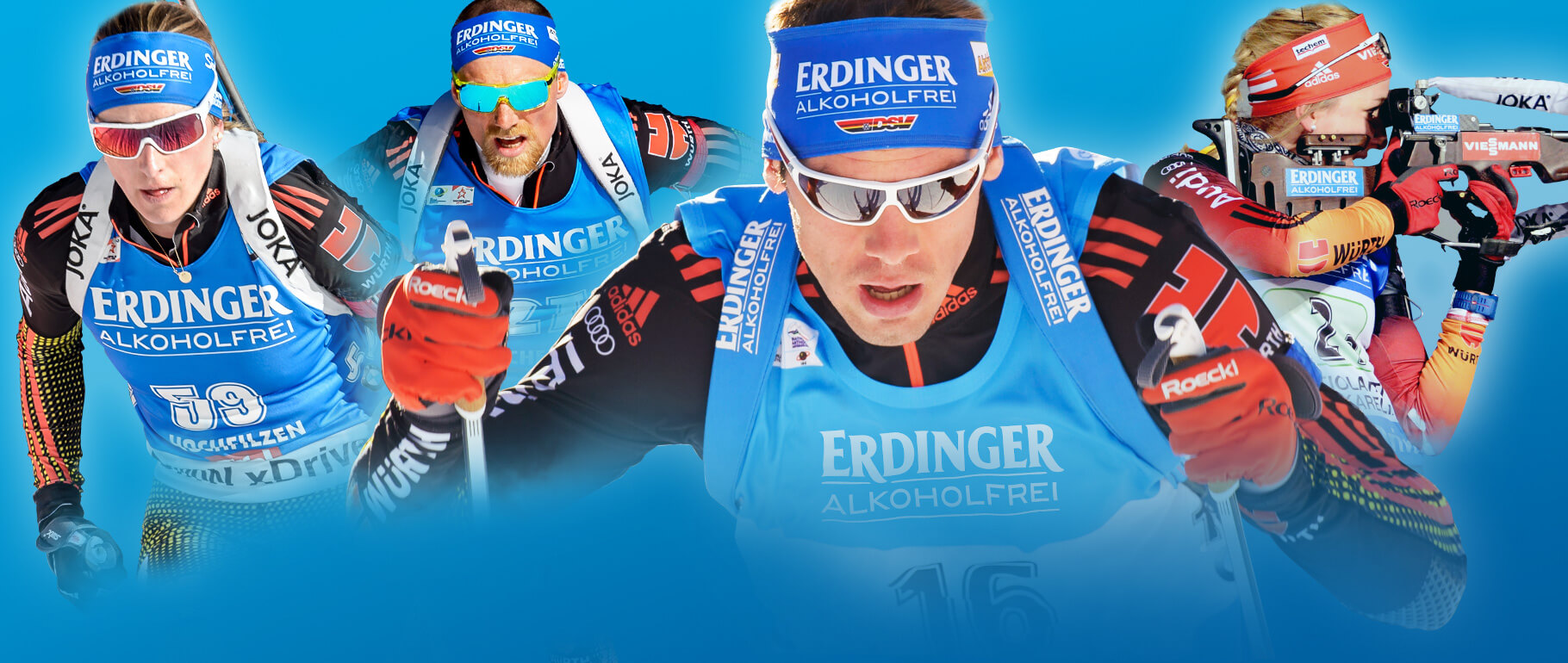 Biathlon mit ERDINGER Alkoholfrei!