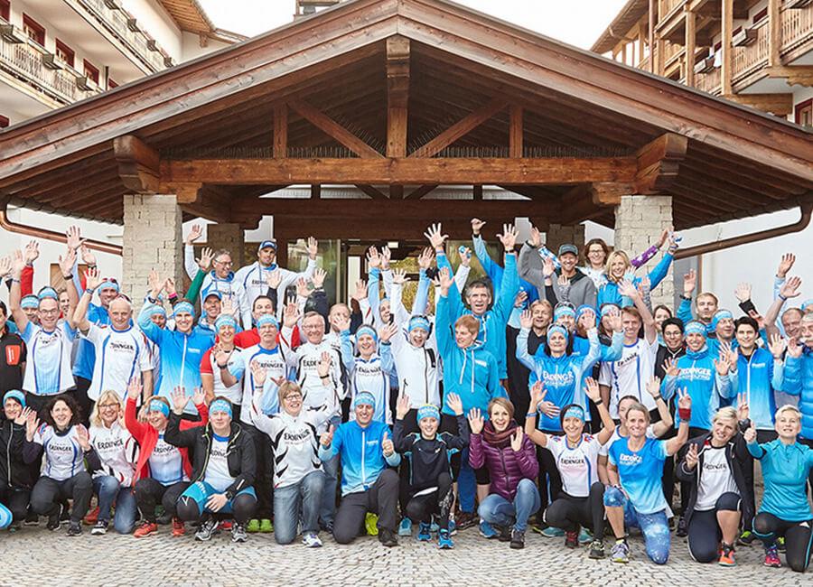 Ein Triathlon-Team aus vielen individuellen Einzelsportlern