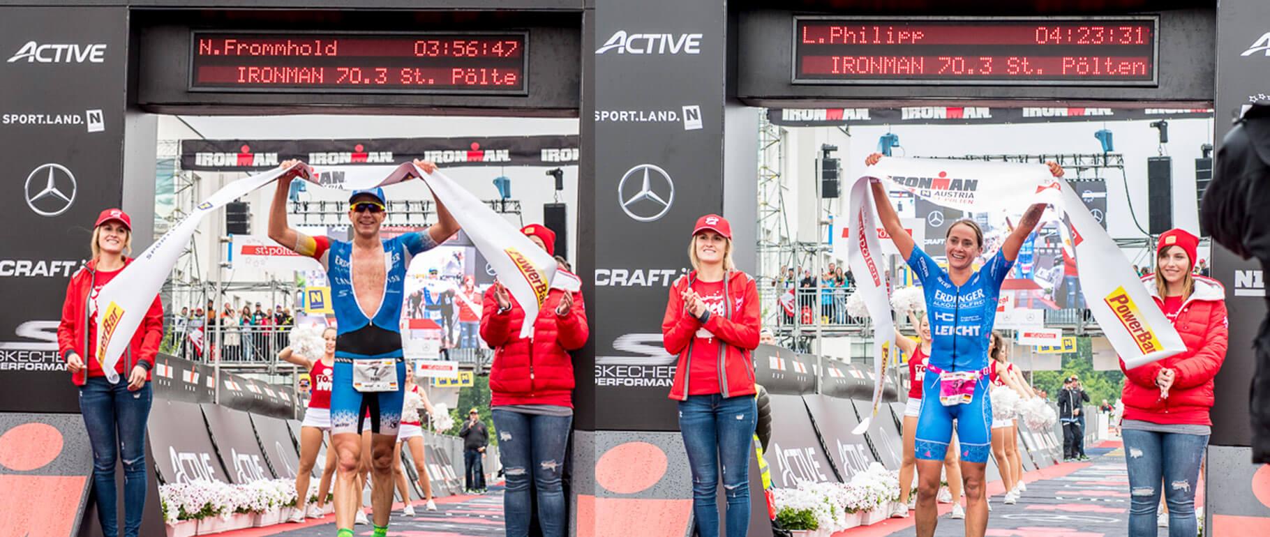 Doppelter Triumph beim Ironman 70.3 St. Pölten