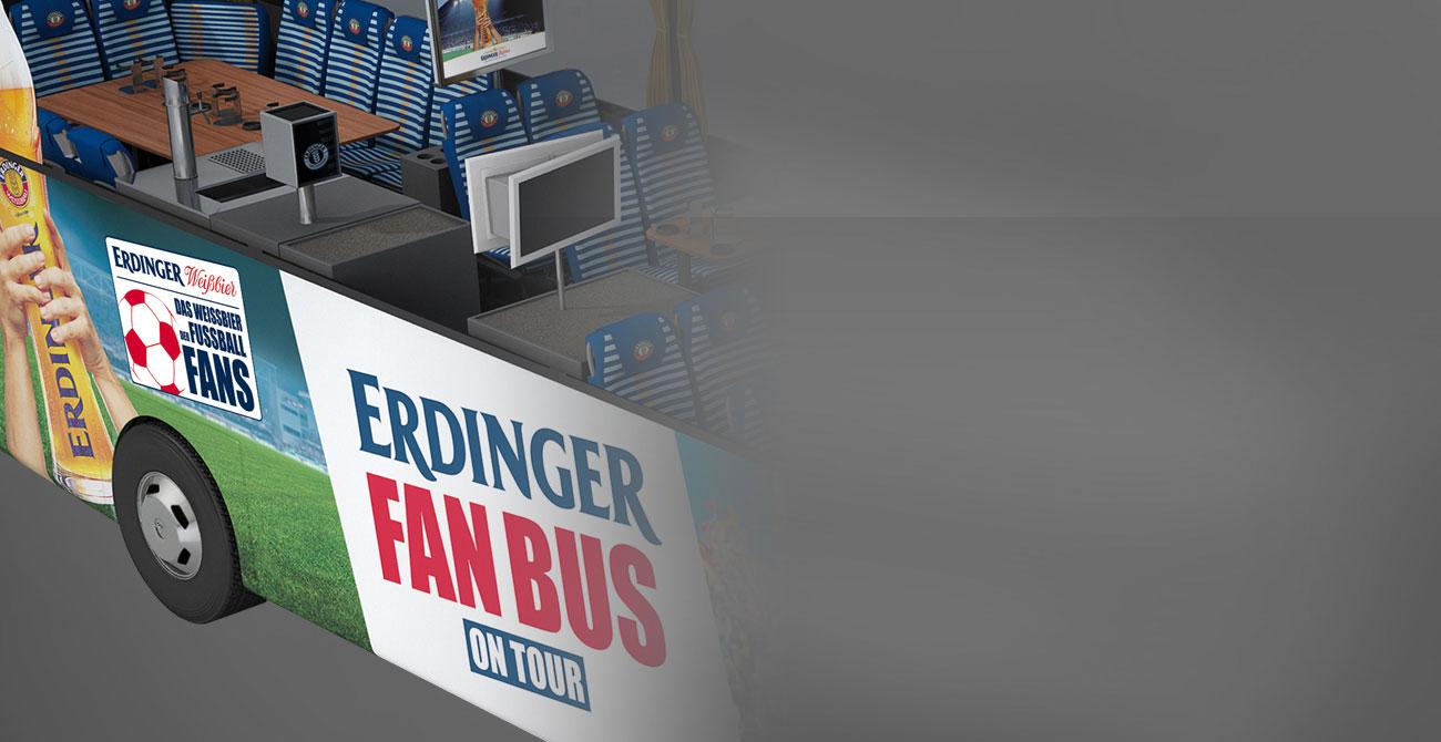 ERDINGER Fanbus Professionelles Multimediasystem