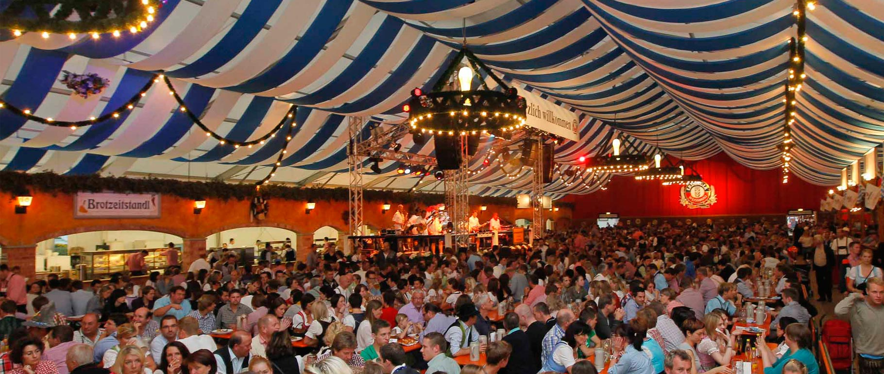 Oktoberfest celebrations featuring ERDINGER