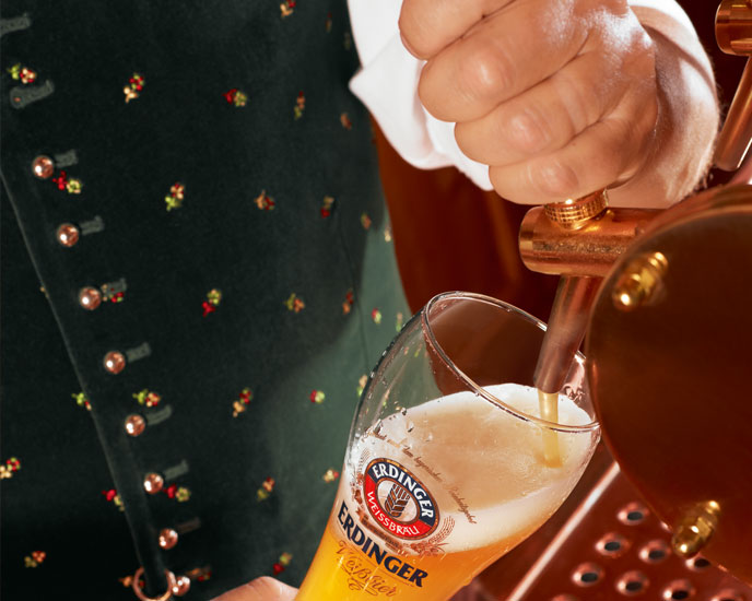 Draft beer serving concept for Weissbier