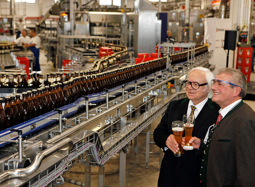 The new bottling plant goes into operation